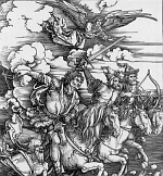 The Four Horsemen of the Apocalypse - etching by Durer